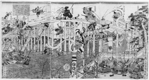 Moriya_Jihei_-Kinshindo-_-_The_Battle_at_Uji_Bridge